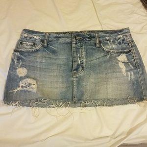 American Eagle Denim Mini Skirt 8